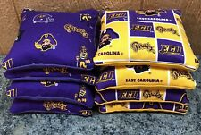 East Carolina Pirates ECU Cornhole Bags, Bag Toss, Bags. Set of 8.