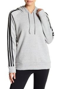 Adidas Womens Essentials Fleece Lined Hoodie Heather Gray Size Small S $50