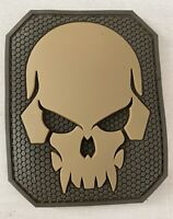 Lot Of 5 Skull Moral Patches Coyote Brown Military