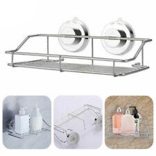 Kitchen/Bathroom Stainless Steel Shower Shelf Storage Suction Basket Rack ZH1