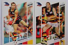 2012 Herald Sun AFL cards Adelaide Douglas #5 and Jacobs #6