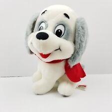 "24K Company Small 9"" White & Gray Chloe Dog Plush Stuffed Animal Vintage 1987"