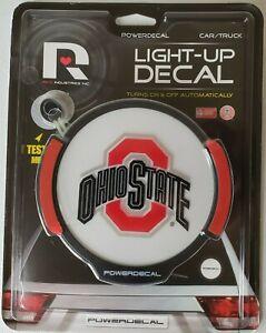 Ohio State Buckeyes LED Window Powerdecal Light Auto Car Truck Nightlight Decal