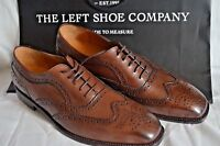 The Left Shoe Company (Adam PM) Custom Made Welted Brown Brogue Shoes UK 8