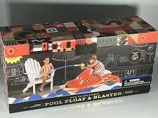 FAO SCWARZ RIDE ON INFLATABLE POOL FLOAT & BLASTER