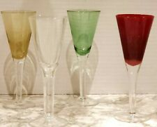 Cordial Glasses x 4 - Abbott Collection - Red, Green, Golden & Clear