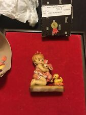 """Anri hand carved wood """"All Mine"""" 4"""" #57137 Le # 507/4000 New In Box"""