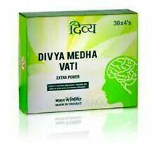 Patanjali Ramdev Ayurvedic Divya Medha Vati Extra Power (120 Tablets) 500mg~