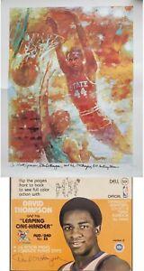 David Thompson NBA Signed Poster & Flip Book 1970s