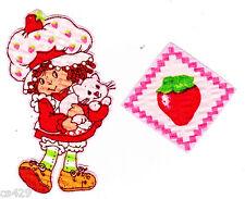 "3"" Strawberry shortcake custard cat fabric applique iron on character"