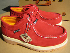 New Buffalino Men Leather Boots Size 10 Color Red
