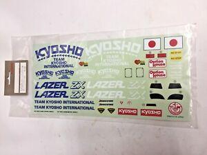Kyosho LA-37 Decal LAZER ZX Genuine OEM Sealed Kit VTG Rare NOS Japan BNIB OG