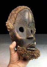 Old Vtg African Tribal Art Dan Mask Carving Wood Liberia Africa