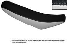 BLACK & WHITE CUSTOM FITS KTM 450 SXF 07-12 DUAL LEATHER SEAT COVER