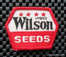 "WILSON SEED HYBRID EMBROIDERED PATCH FARM HARLAN IOWA PLANT HARVEST 2 1/2"" x 2"""