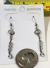Miniature Fashion Jewelry Earrings Charms with crystals design Silvertone