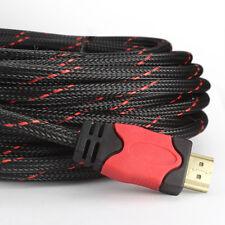 30 FT/7.6M Premium Braided V1.4 HDMI Cable w/FERRITE CORE Ethernet HD 4K ARC CA
