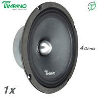 "1x Timpano TPT-MR8-4 BULLET 8"" Pro Audio Car Speakers 400 Watts Midrange 4 Ohms"