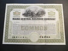 Maine Central Railroad Company Olive Green 1922 to Hayden, Stone & Co., Boston