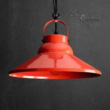 Luminaire suspendu Ø31cm E27 en rouge Lampe vintage COUVERTURE Salon de