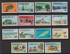 ANGUILLA 1967 DEFINITIVE SET NEVER HINGED MINT