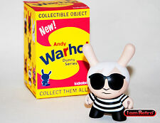 "Andy Warhol Black Variant 3"" Vinyl Dunny Series 2016 Kidrobot Brand New in Box"