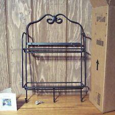 Longaberger Wrought Iron Maple Leaf ENVELOPE RACK ~ 2-Shelf