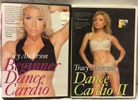 2 Tracy Anderson dancing workout exercise fitness DVDs beginner dance Cardio II