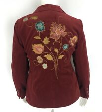 cAbi The Poet Velvet Blazer Jacket Floral Embroidered Style 180 Size 16 NWT