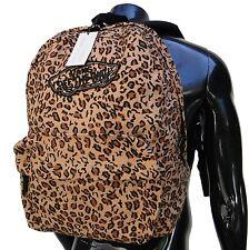 Vans Realm Cheetan Brown Logo Mens Unisex Womens Backpack School Bag