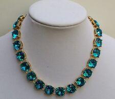 J Crew Blue Crystal Necklace and Bracelet Set