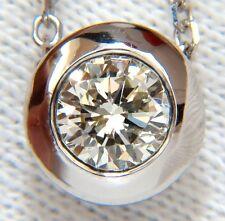 .75CT BEZEL ROUND DIAMOND NECKLACE+