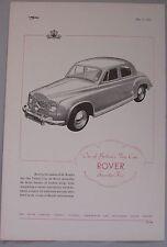 1951 Rover Seventy-Five Original advert No.2