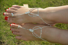 1Pair Barefoot Sandal Foot Jewelry Beach Wedding Ankle Bracelet Silver/Golden