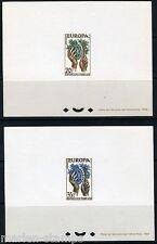 FRANCE EUROPA YVERT 1122-3 DELUXE SOUVENIR SHEET SET OF TWO AS SHOWN