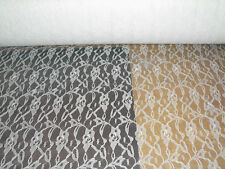 White allover lace fabric 3 yds  (D604)