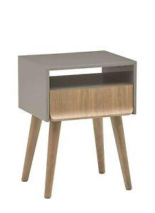 Amazon Rivet 1-Drawer 1-Shelf Lacquer End/Side Table, 45 x 60 x 36cm, RRP 142.00