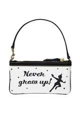 """NWT Disney Dooney & Bourke Peter Pan Wristlet Wallet Clutch """"Never Grow Up"""""""