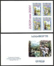 Georgia 2001 Europa CEPT Water - Natural Treasure Booklet MNH**