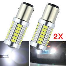 2X White BAY15D 1157 1142 Car Light Tail Stop Brake 5630 LED 33 SMD Lamp Bulb 6W
