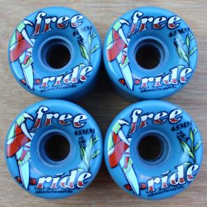 Free Ride Grey Blue Sector 9 Longboard/Cruiser Skateboarding Wheels 65mm 78a