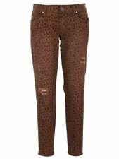 NEW Kut from the Kloth Donna Ankle Skinny Jeans Mocha Leopard Print Trendy 2-12