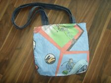 HANDMADE IN VINTAGE ACTION MAN MULTI  PRINT 14in Tote Shoulder bag  FABRIC