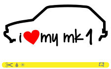 I Love My MK 1 Sticker Line OEM Low Stance Dub ADESIVI