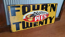 Large Four N Twenty Pies Metal tin sign Mancave bar Garage Australian blackbirds