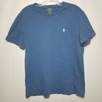 Polo Ralph Lauren Medium M Blue Short-Sleeve Crew Neck Tee T-Shirt 175/96A