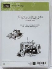 Stampin Up HARVEST BLESSINGS clear mount stamps farm tractor fall