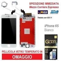 TOUCH SCREEN LCD RETINA DISPLAY FRAME VETRO SCHERMO PER APPLE IPHONE 6S BIANCO