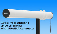 2,4 ghz antenna yagi 19dbi wlan wifi rp-sma wireless 5 meters all networks