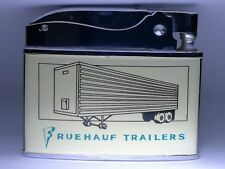 Flat Advertising Lighter Trucking - Fruehauf Trailers RARE Made In Japan